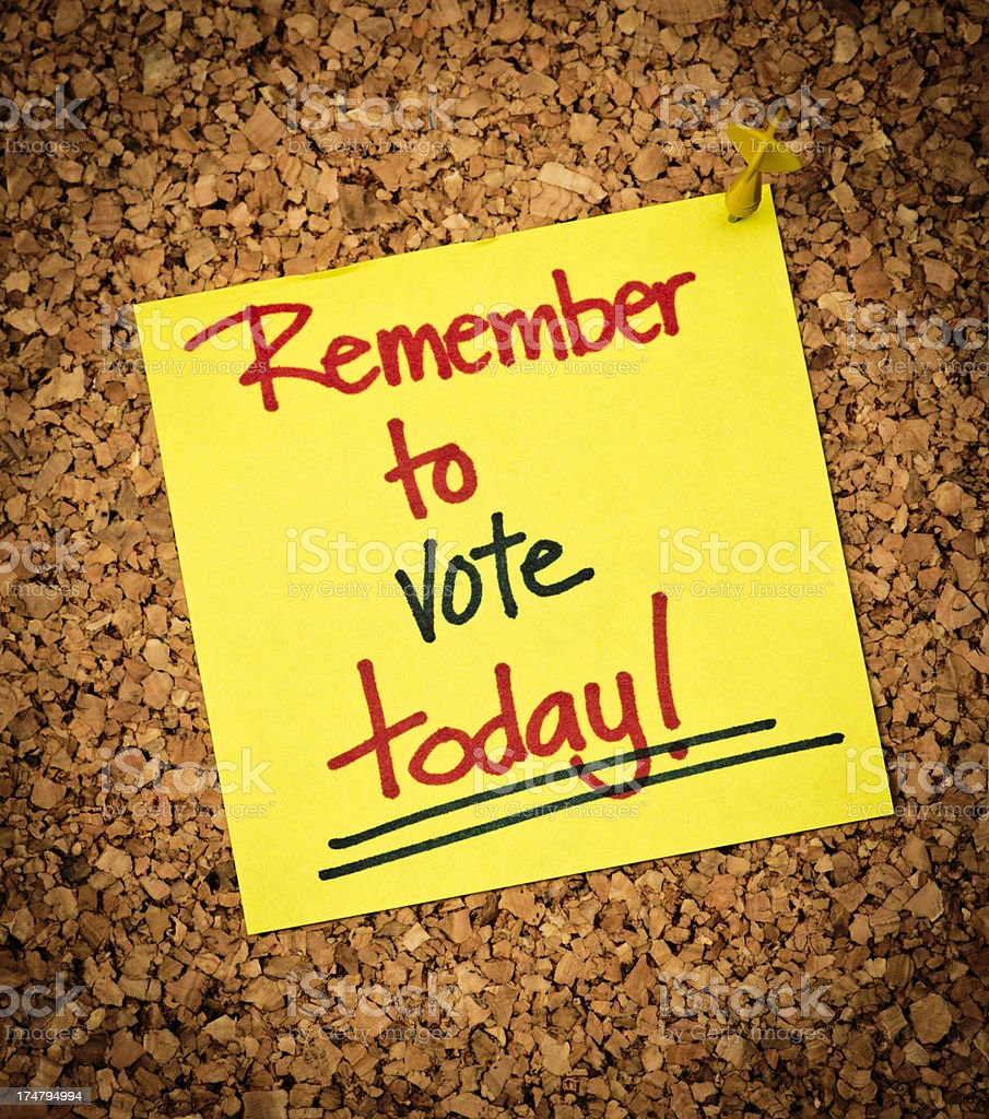Remember to Vote! royalty-free stock photo