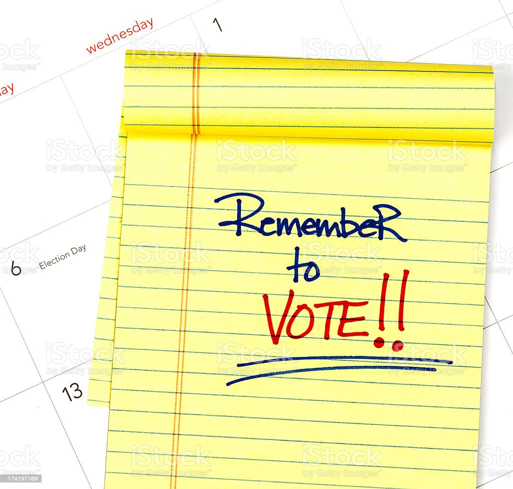 Remember to Vote! stock photo