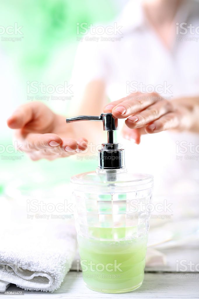Remember to wash their hands stock photo