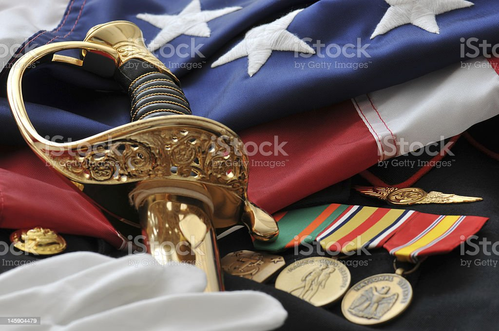 Remembering America's Soldiers stock photo