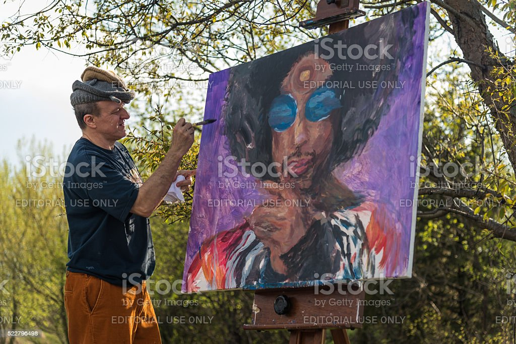 Remembering Prince at Paisley Park stock photo