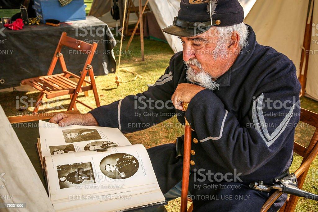 Remembering The Civil War stock photo