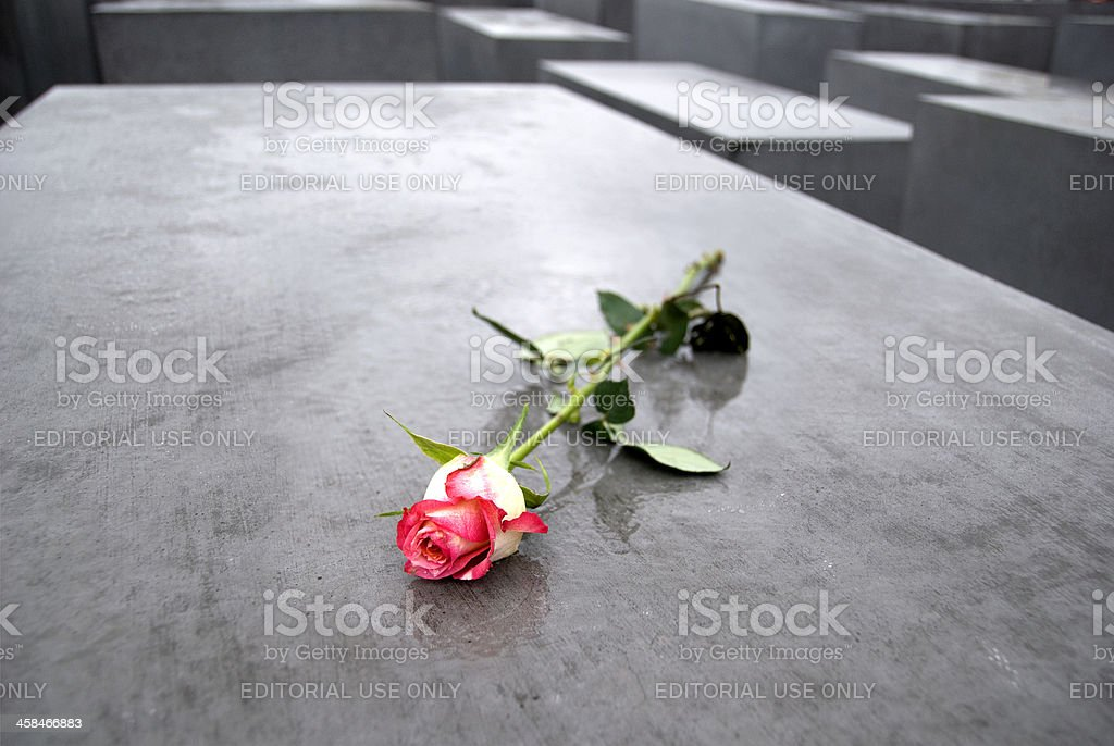 Remembering the Holocaust stock photo
