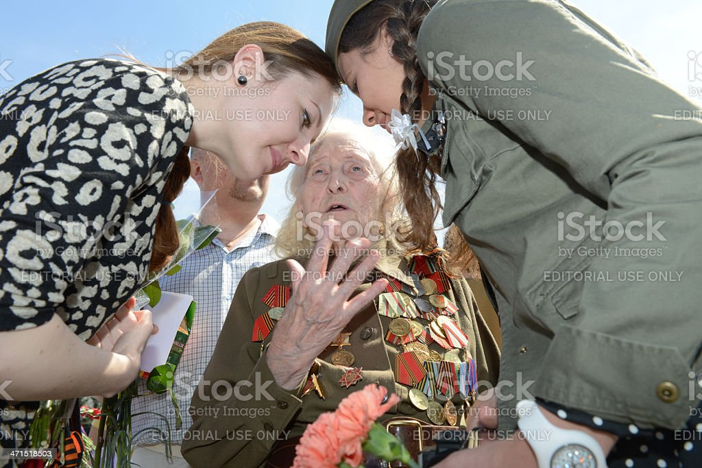 Remembering the war royalty-free stock photo