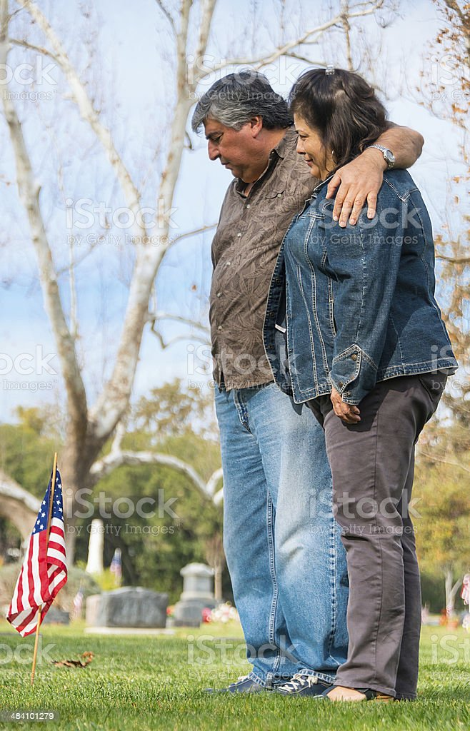 Remembering their son stock photo