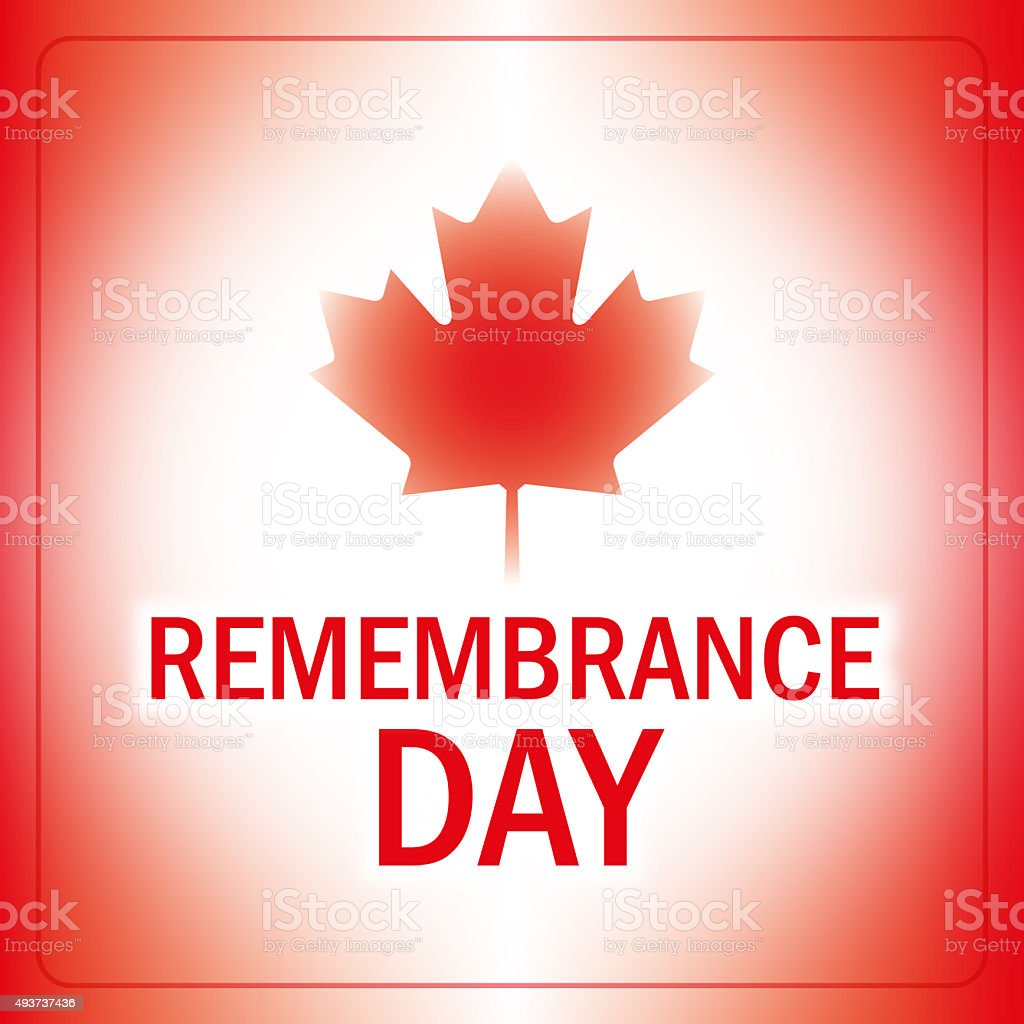 remembrance day canada banner stock photo
