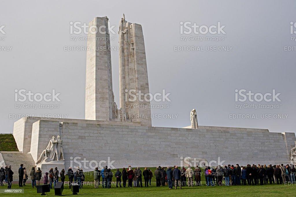 Remembrance Day, Canadian War Memorial, Vimy Ridge November 11. 2014 stock photo