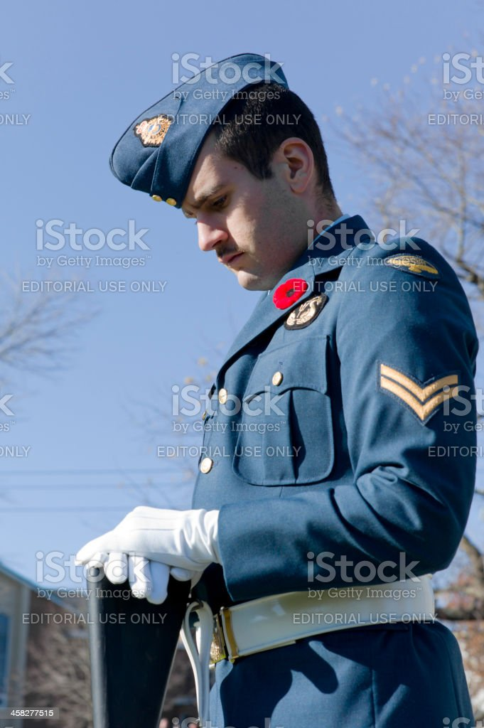 Remembrance Day Ceremony, Dartmouth Nova Scotia, Canada. royalty-free stock photo