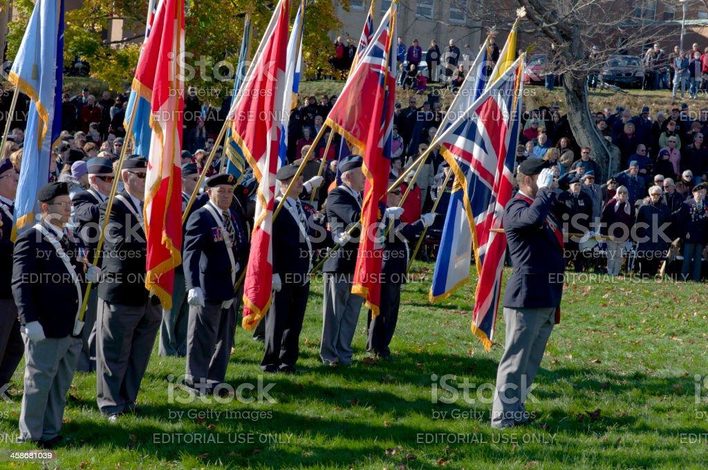 Remembrance Day Ceremony, Dartmouth Nova Scotia, Canada. royalty-free stock photo