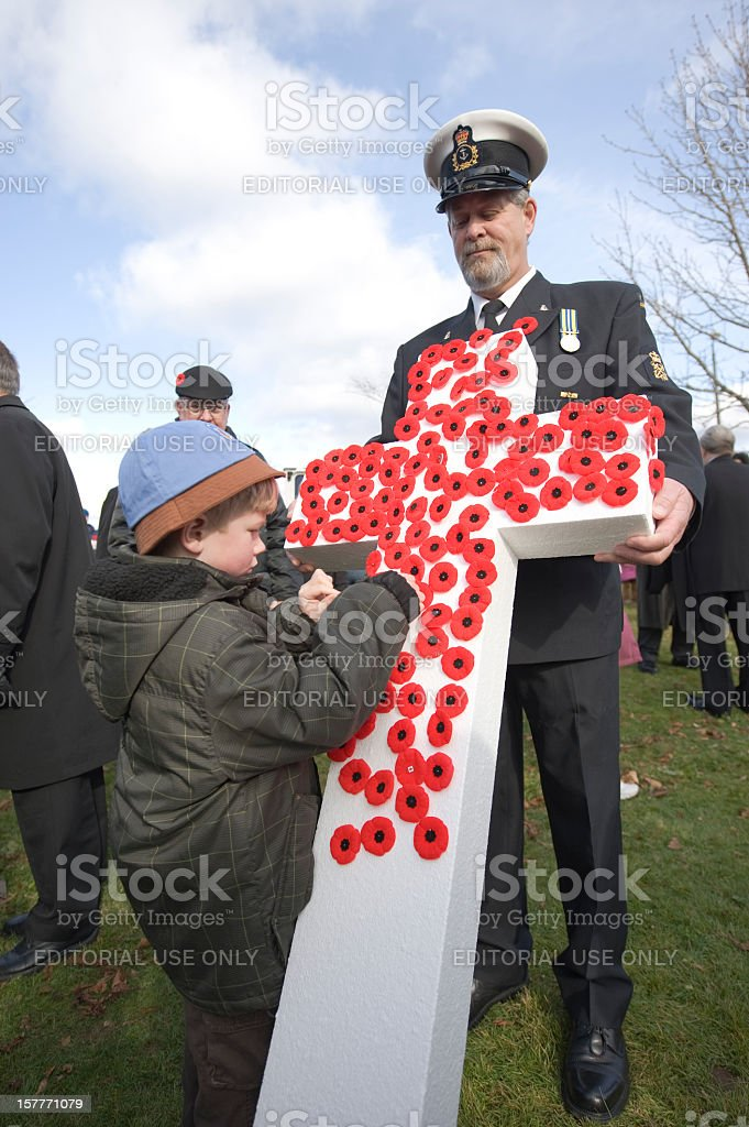 Remembrance Day Ceremony. stock photo