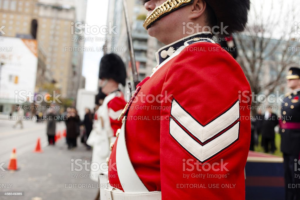 Remembrance day in Toronto,2013 stock photo