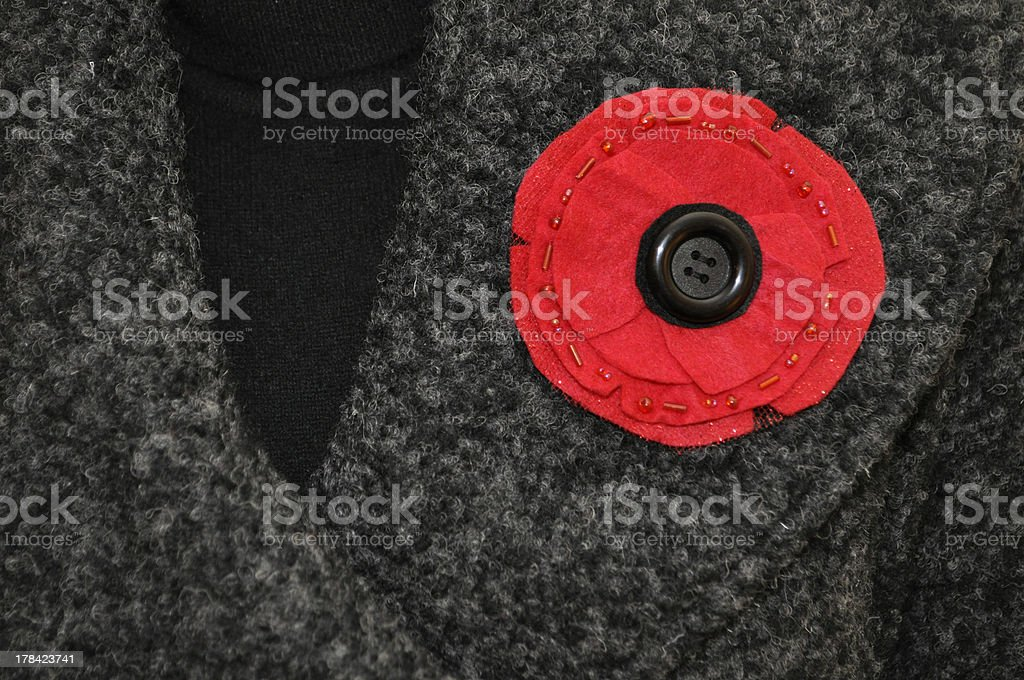 Remembrance Day Poppy stock photo