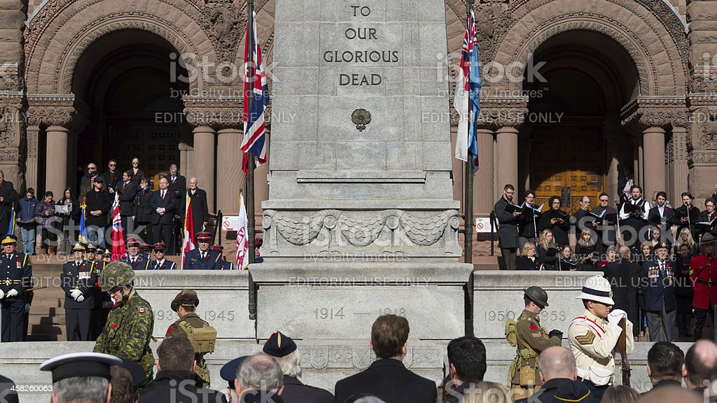 Remembrance Day Service stock photo