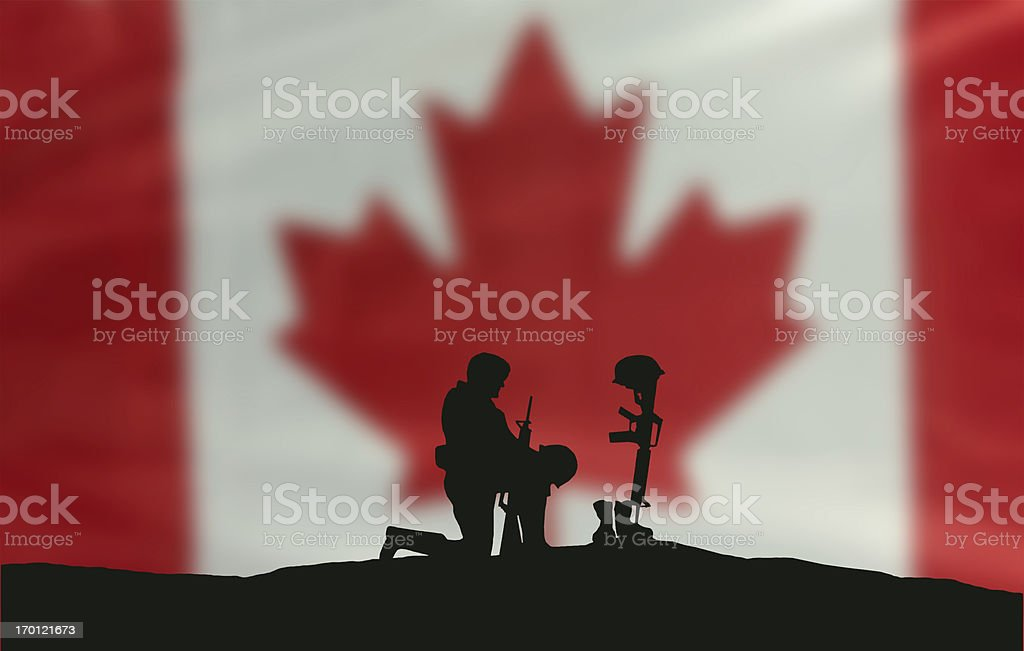 Remembrance Day Soldier stock photo