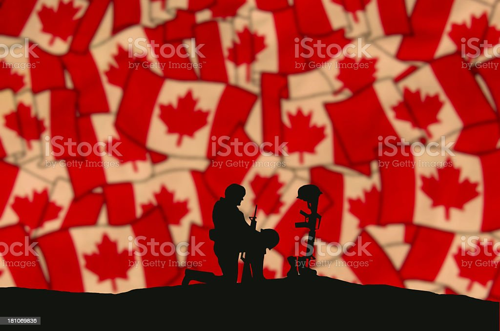 Remembrance Day Soldier royalty-free stock photo