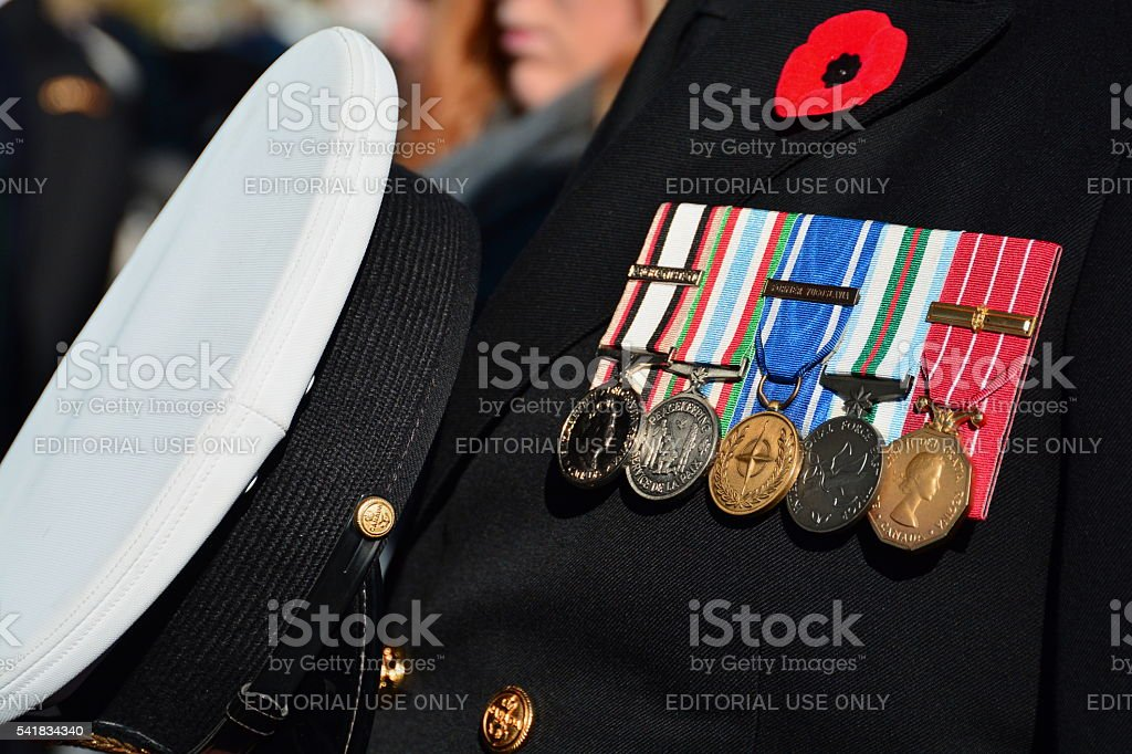 Remembrance day,honoring our war heroes. stock photo