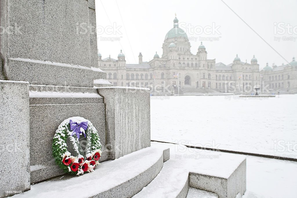Remembrance in BC stock photo