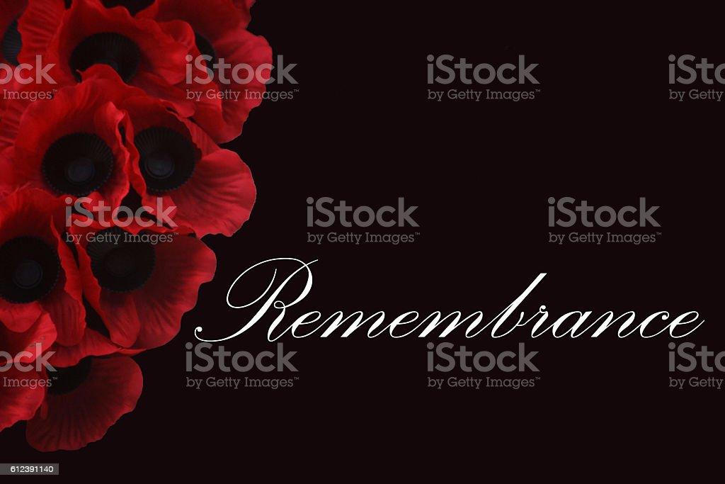 Remembrance stock photo