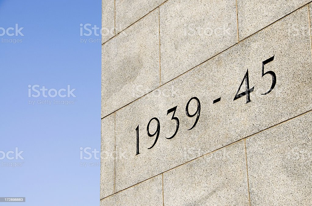 Remembrance: Second World War royalty-free stock photo