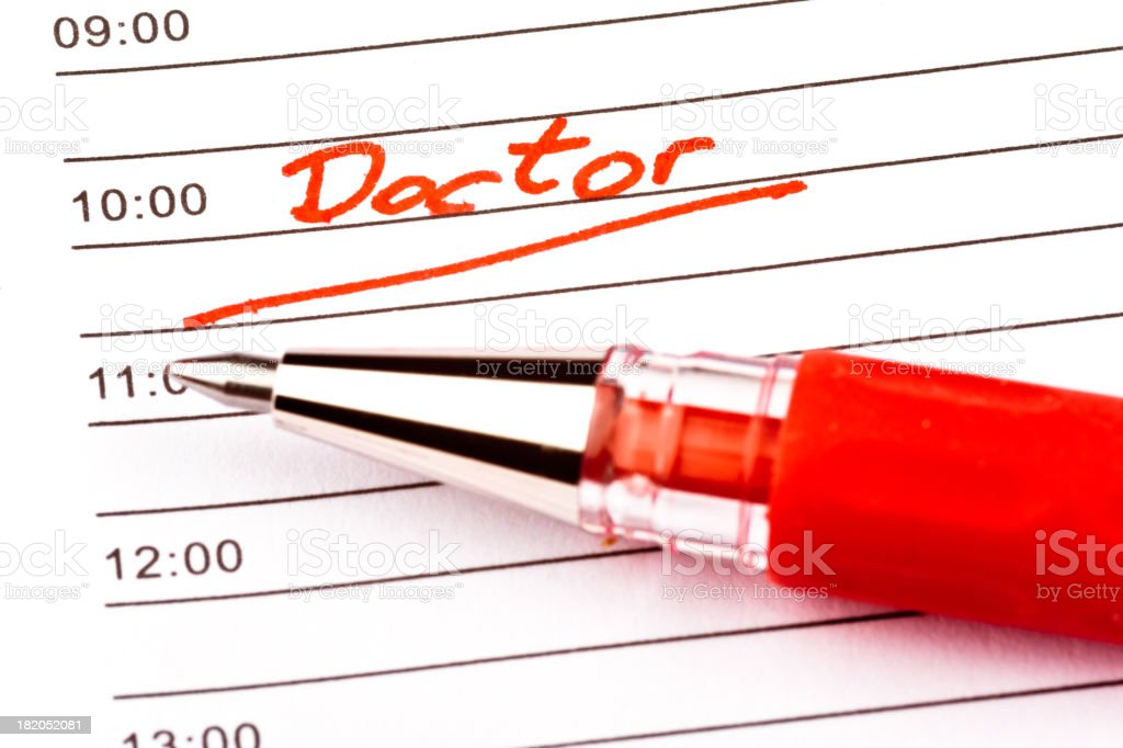 Reminder for Doctors Appointment royalty-free stock photo