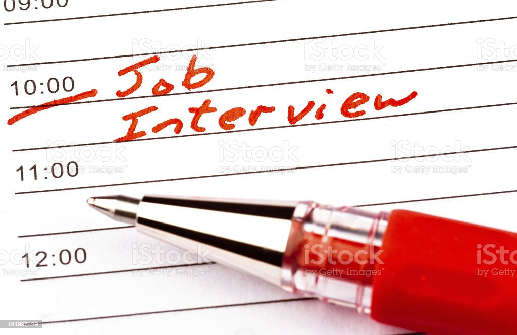 Reminder for Job Interview stock photo
