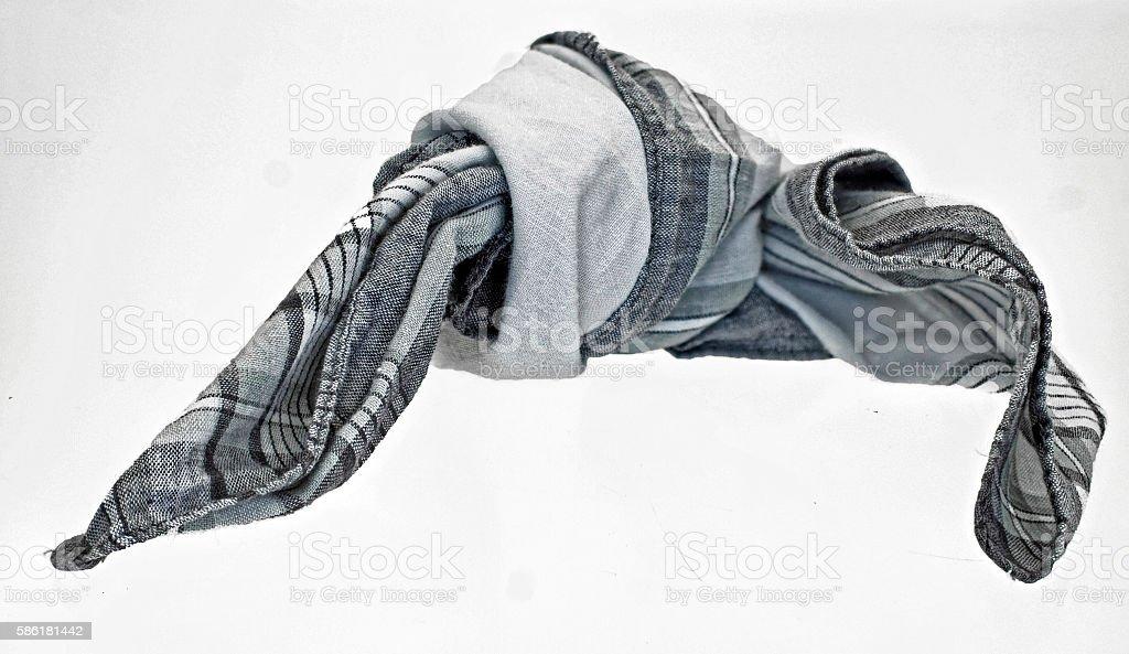 Reminder mark knot in handkerchief stock photo