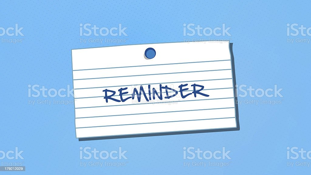 Reminder Note With Thumbtack royalty-free stock photo