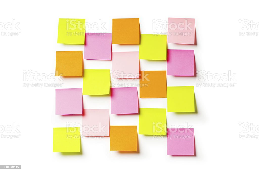 Reminder notes isolated on the white background royalty-free stock photo