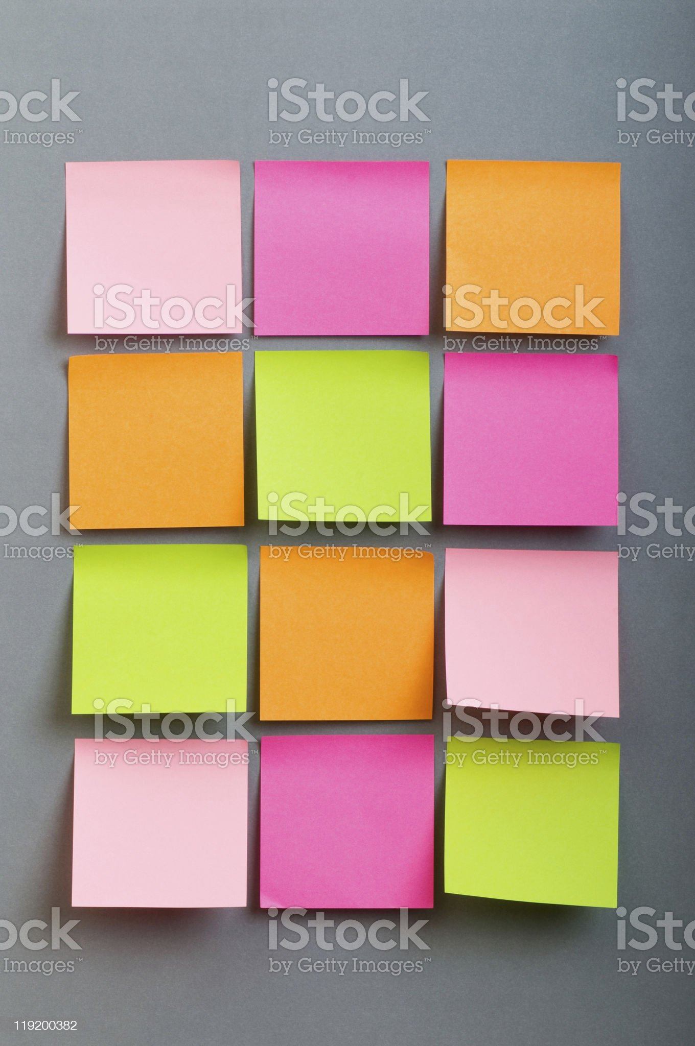 Reminder notes on the bright colorful paper royalty-free stock photo
