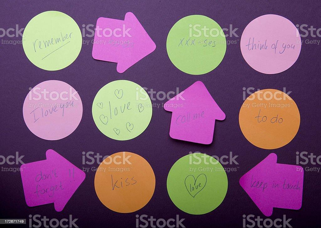 Reminder on purple background royalty-free stock photo
