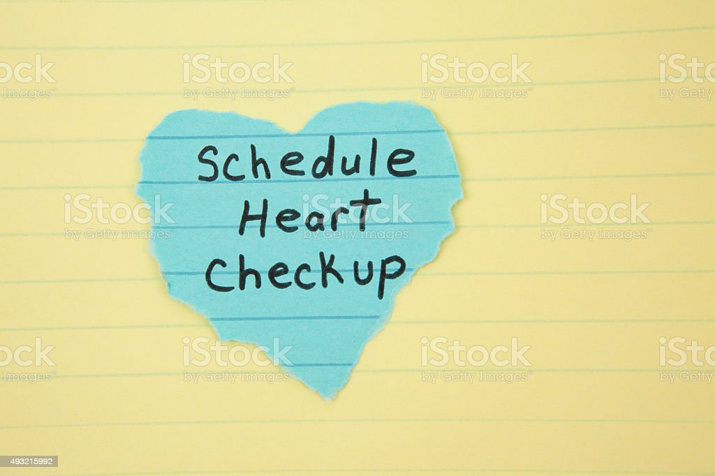 Reminder to Schedule Heart Check-up Appointment stock photo