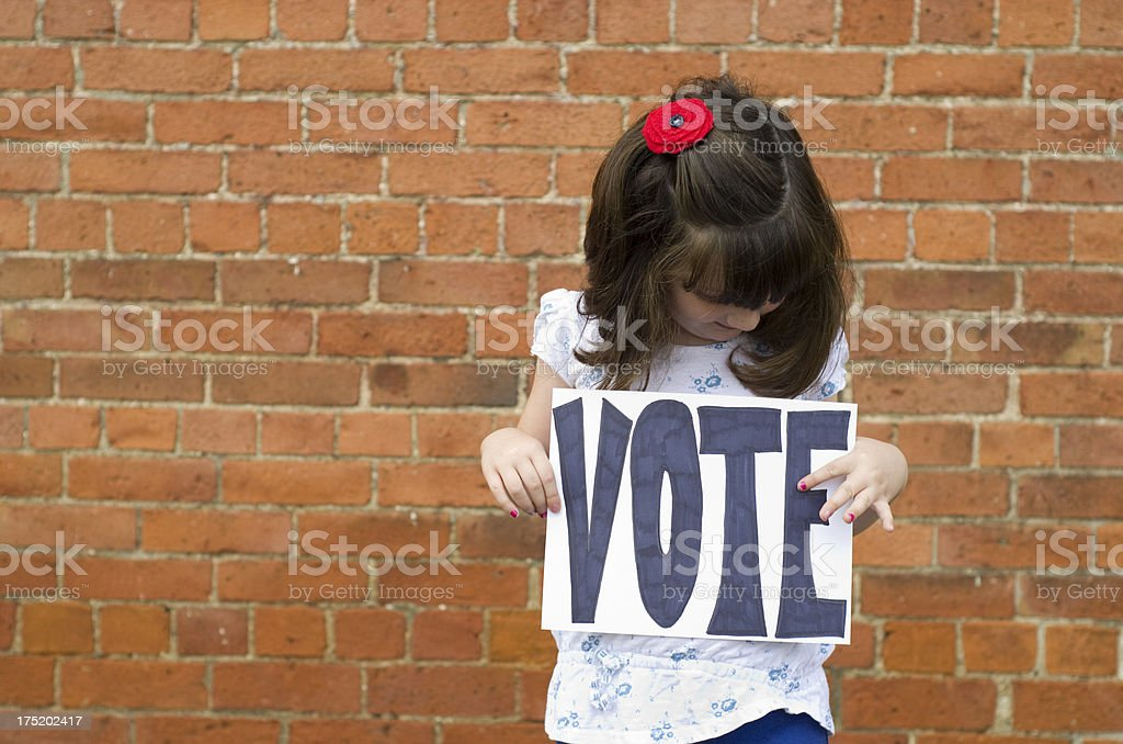 Reminder to vote in the election royalty-free stock photo