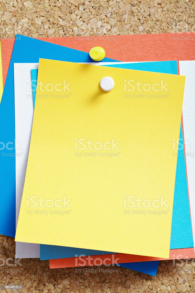 Reminders royalty-free stock photo