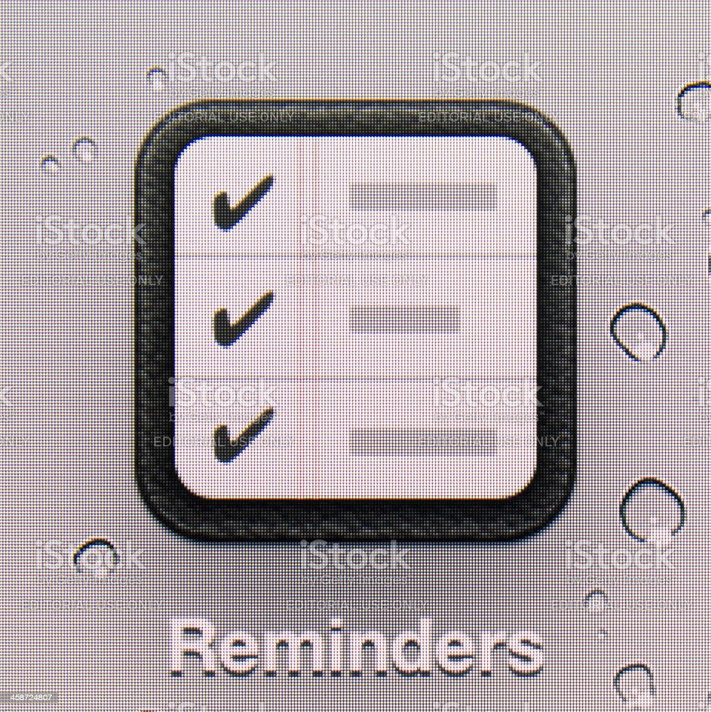 Reminders. royalty-free stock photo