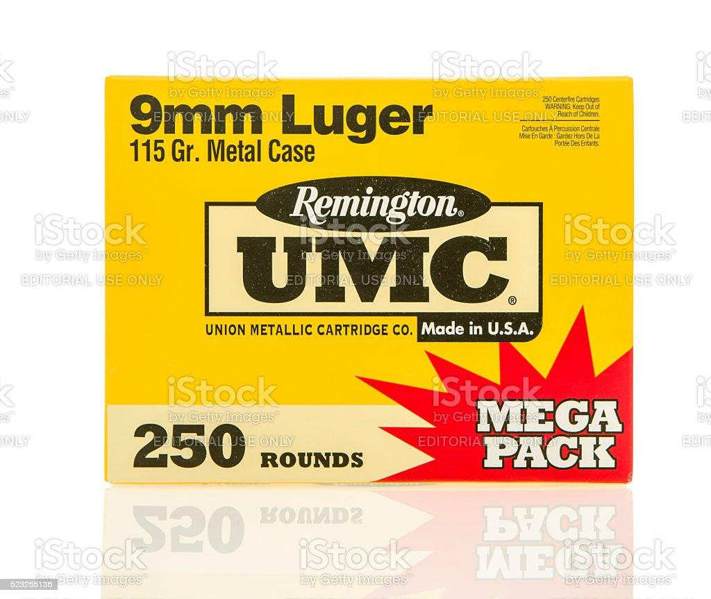 Remington 9mm Luger stock photo