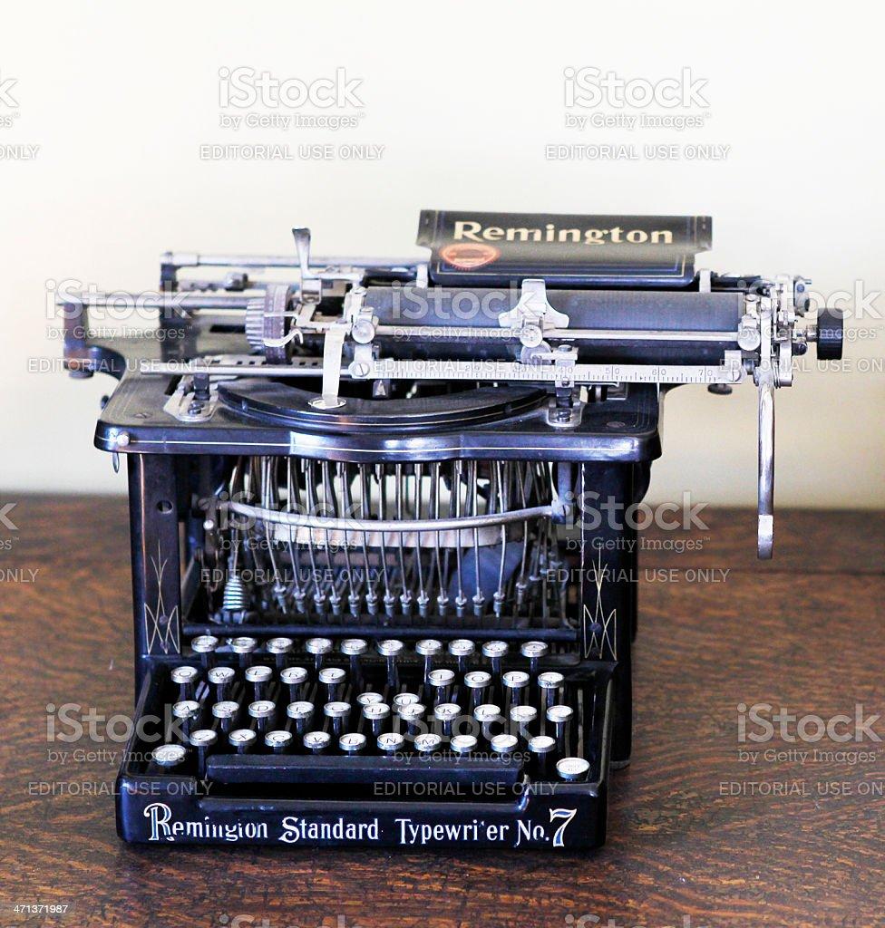Remington No.7 Typewriter stock photo