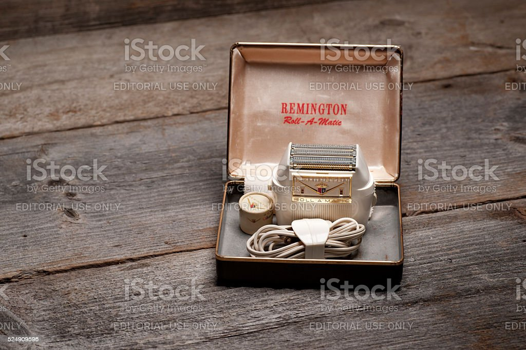 Remington Roll-A-Matic Electric Shaver stock photo