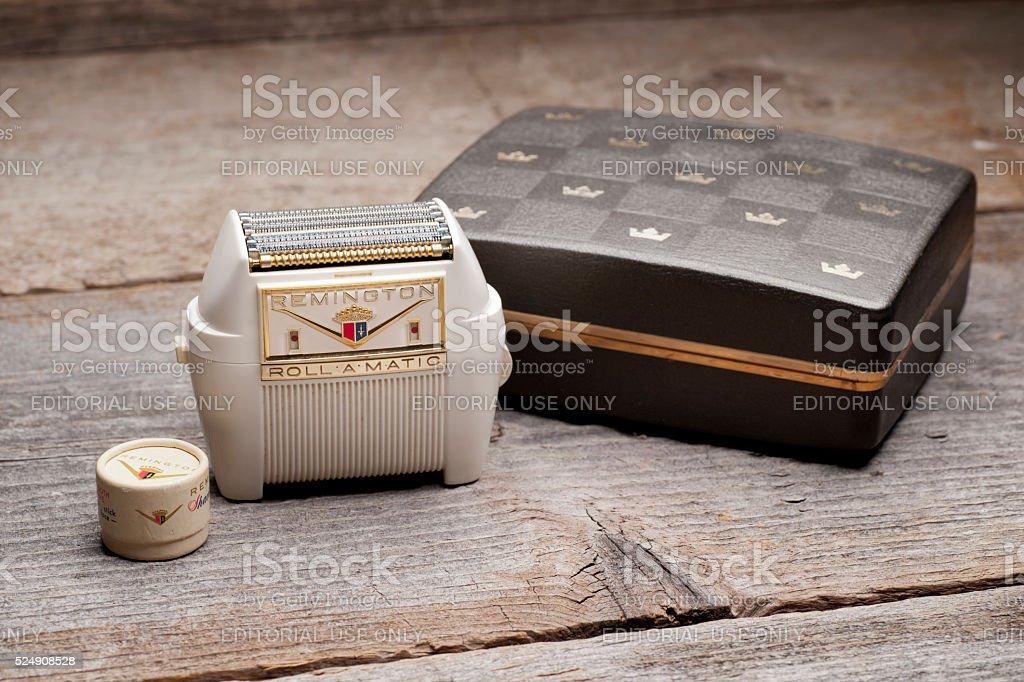 Remington Roll-A-Matic Shaving Kit stock photo