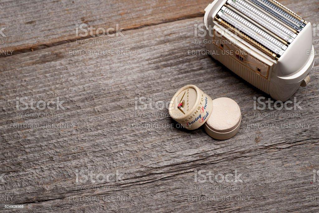 Remington shaving Background stock photo