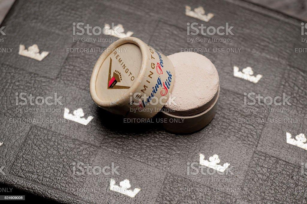 Remington Shaving Powder Stick stock photo