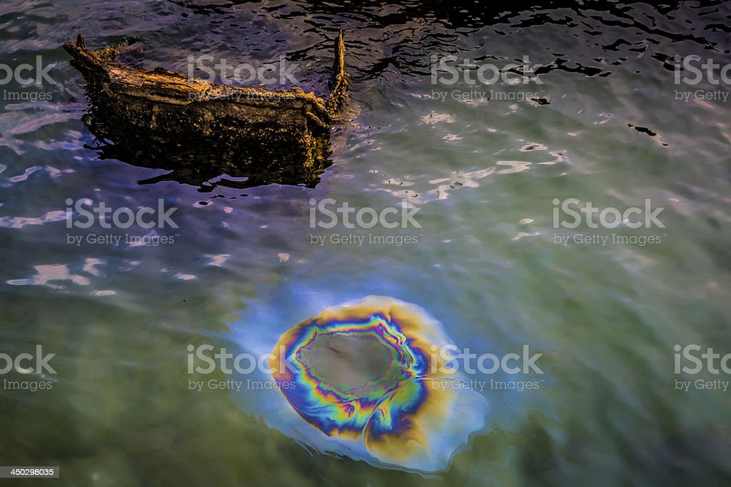 Remnants of a Sunken Ship stock photo