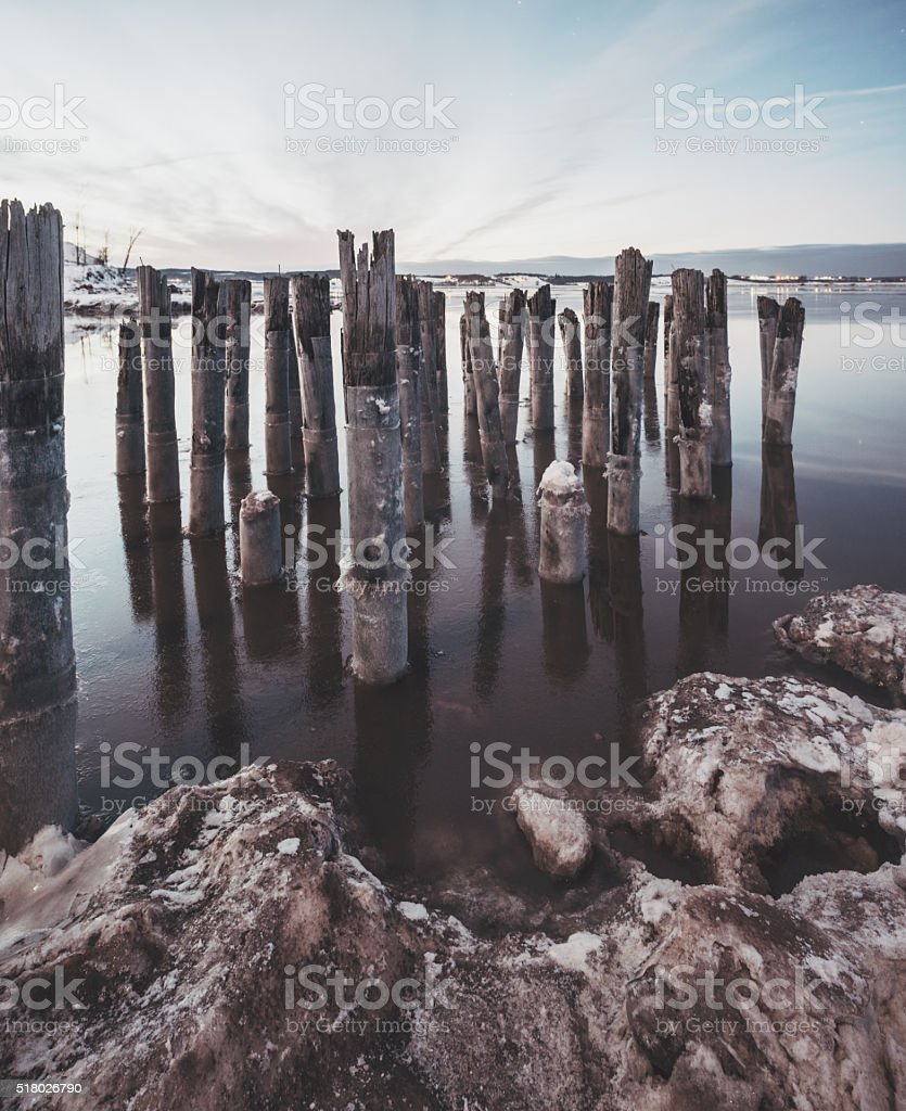 Remnants of the Pier stock photo