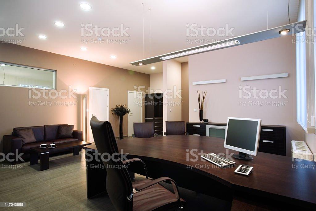 Remodeled designer luxury office royalty-free stock photo