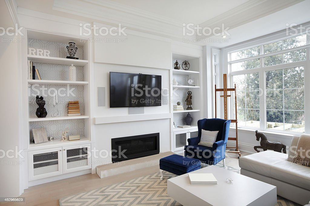 Remodeled Luxurious Living Room stock photo