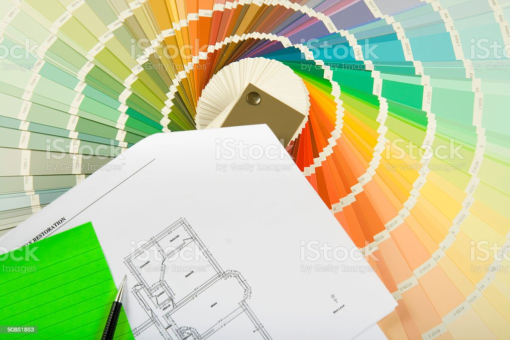 Remodeling project series royalty-free stock photo