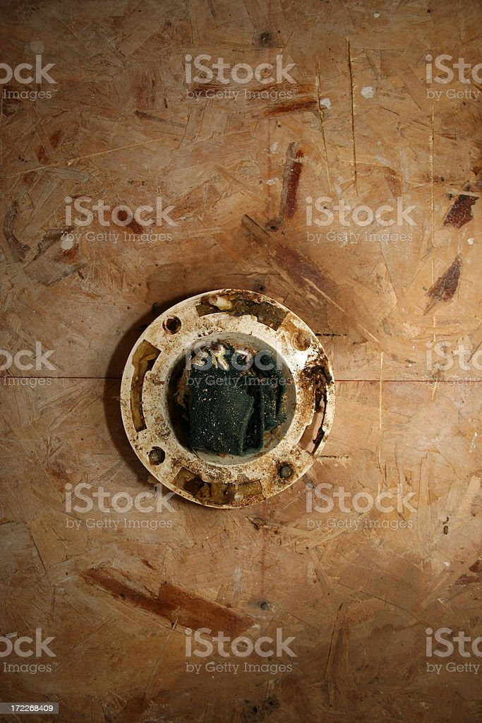 Remodeling Series: Water Closet Flange royalty-free stock photo