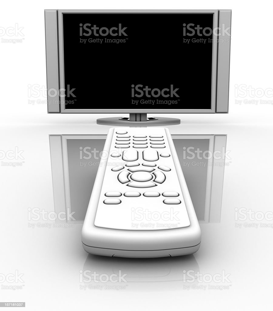Remote and HDTV Television royalty-free stock photo