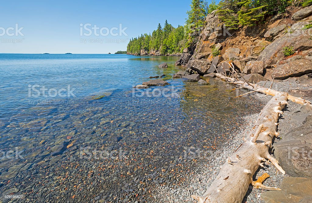 Remote Bay in the North Woods stock photo