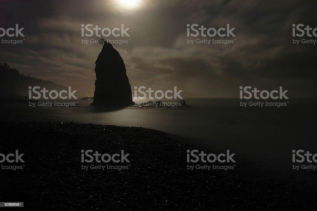 Remote Beach in Washington State stock photo
