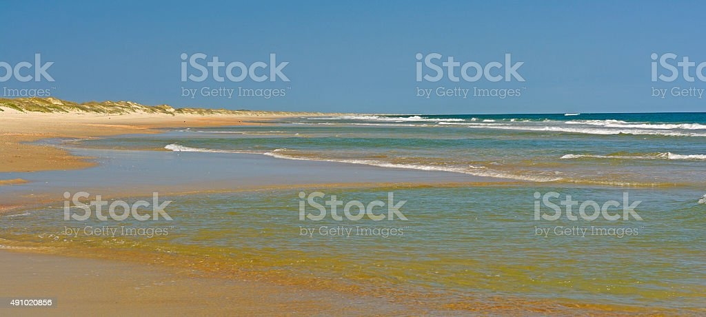 Remote Beach Panorama stock photo